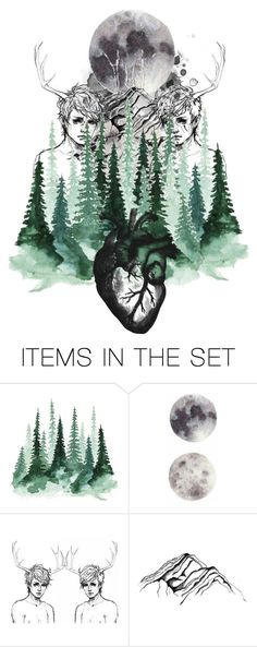 """deep in the heart of the forest..."" by shattered-tempest ❤ liked on Polyvore featuring art"