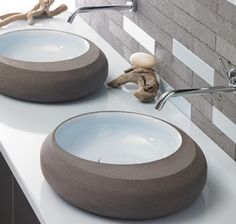 Painted porcelain bathroom sinks are available in a variety of colors.