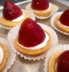 Strawberry tarts #carlosbakery