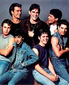 Tom Cruise Matt Dillon Emilio Estevez Rob Lowe Patrick Swayze Thomas Howell And Ralph Macchio Ralph Macchio, Patrick Swayze, Matt Dillon, Rob Lowe, Movies And Series, Movies And Tv Shows, Tom Cruise, Love Movie, Movie Tv