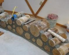 Demonstration Cordwood Wall