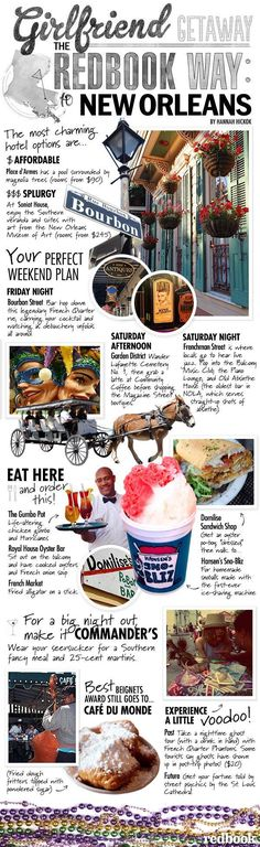 New Orleans Travel Guide - What To Do, See, Eat, and Drink in NOLA - Redbook; fun reference for traveling friends #travelsecrets