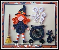 Preparing  Halloween  I  made  this  little witch a this card.