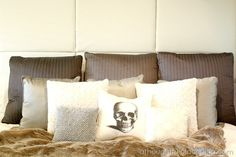 {DIY} How to Make a Paneled Padded Headboard - A Thoughtful Place