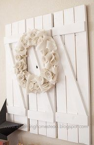 Shutters out of pallets...LOVE! pallets are easier to find than old windows and shutters.