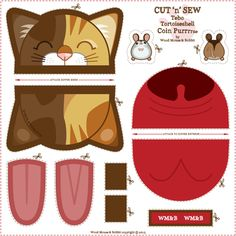 Tebo_Coin_Purrse fabric by woodmouse