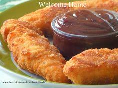 Welcome Home Blog: ♥ Buttermilk Fried Chicken Strips