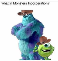 Sulley is the lovable blue monster from the Pixar film 'Monsters Inc.' who scares small children with help from his friend Mike Wazowski. Monsters Inc Characters, Monsters Ink, Disney Monsters, Cartoon Characters, Pixar Movies, Disney Movies, Disney Pixar, Walt Disney, Monsters Inc University