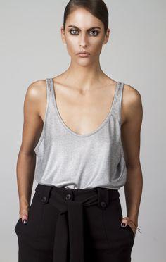 Shop Online Elegant, Feminine & Sophisticated Clothing designed by Fotini Karagianni. Sophisticated Outfits, Online Sales, Dresses For Sale, Basic Tank Top, Camisole Top, Feminine, Elegant, Tank Tops, Shopping