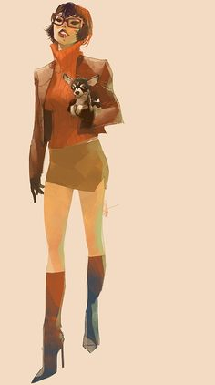 Scooby-Doo's 'Velma' by Otto Schmidt Character Design Cartoon, Character Sketches, Character Design Animation, Character Design References, Character Design Inspiration, Character Illustration, Character Art, Character Concept, Otto Schmidt