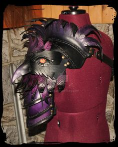 Crow leather pauldron by Lagueuse on DeviantArt