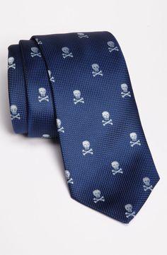 Eaton Skull Print Silk Tie. Available at Nordstrom. 125.00 USD.