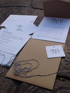 Modern Pocketfold Wedding Invitations rsvp card by 2beUdesign