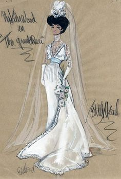 Edith Head sketch for Natalie Wood in The Great Race (1965)