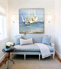 Abstract Sailing Ship Painting Gold Leaf Art Sailing Regatta Art Ocean Painting Textured Original Painting On Canvas by Julia Kotenko by JuliaKotenkoArt on Etsy