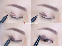 Forgo eyeshadow and instead, crosshatch gel liner onto lids and blend for long-lasting, budge-proof coverage.