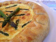 Quiche de aspargos | Cucchiaio pieno - receitas vegetarianas, italianas e muito mais! Com passo-a-passo e fotografia.