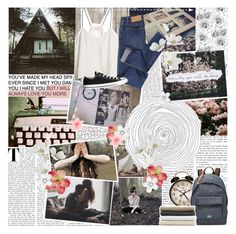 """""""Come and take a walk on the wild side Let me kiss you hard in the pouring rain You like your girls insane, so Choose your last words This is the last time 'Cause you and I We were born to die"""" by indie-by-heart ❤ liked on Polyvore featuring INDIE HAIR, Piet Hein Eek, H&M, Cheap Monday, Converse, Pier 1 Imports, FOSSIL and Abyss & Habidecor"""