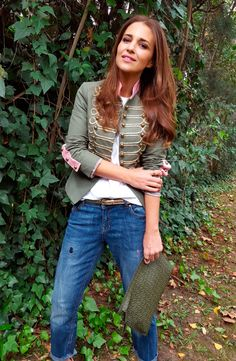 The extreme collection Jean Outfits, Fall Outfits, Casual Outfits, Military Fashion, Casual Fall, Blazer Jacket, Beauty Hacks, Street Style, Coat