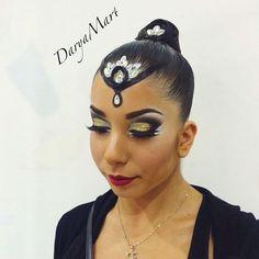 Ballroom hairstyle and make-up by me #ballroom #ballroomdance #ballroomhairstyle #ballroommakeup #DanceAccord #Danceaccord2015