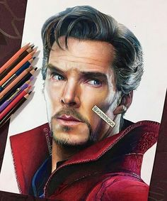 WANT A SHOUTOUT ?   CLICK LINK IN MY PROFILE !!!    Tag  #DRKYSELA   Repost from @xxmmkoxx   Almost done #WIP #doctorstrange #benedictcumberbatch #coloredpencil via http://instagram.com/zbynekkysela