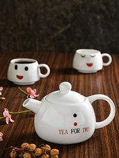 White printed bone china tea set for two. – Hobbies paining body for kids and adult Craft Online, Tea Cup Set, Clay Crafts, Bone China, Ceramics, Mugs, Printed, Tableware, Hobbies
