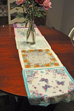 crafts made from handkerchiefs | Dishfunctional Designs: Vintage Handkerchiefs & Scarves Upcycled and ...