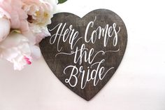 27 Incredibly Cute Ring Bearer Signs You'll Want For Your Wedding - Here Comes the Bride Sign Heart Shaped Ring Bearer Sign by The Paper Walrus