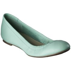 Women's Merona® Emma Genuine Leather Scrunch Flat - Mint. These are adorable and supposedly very comfy, but the reviews suggest the color is inaccurate.