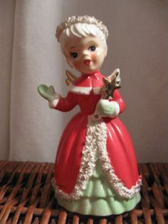 Vintage Christmas Angel Bell National Potteries by dmdesign2012, $50.00