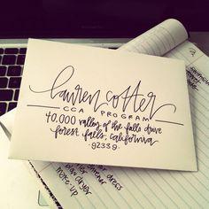 hand lettering for envelope addresses several by laurenishdesign