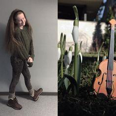 small violin // doll violin // galanthus nivalis // girl // outfit