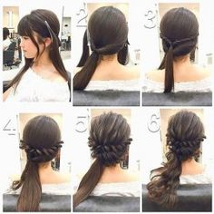 Fashionable Braid Hairstyle for Shoulder Length Hair Wedding Side Ponytails, Pretty Hairstyles, Braided Hairstyles, Curly Hairstyle, Hairstyles Haircuts, Medium Hair Styles, Medium Curly, Long Hair Styles, Hair Inspo