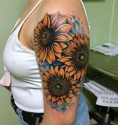 Latest Sunflower Tattoo Ideas For You 07 - Latest Sunflower Tattoo Ideas . - Latest Sunflower Tattoo Ideas For You 07 – Latest Sunflower Tattoo Ideas For You 07 - Sunflower Tattoo Simple, Sunflower Tattoo Shoulder, Sunflower Tattoos, Sunflower Tattoo Design, White Sunflower, Neue Tattoos, Body Art Tattoos, Henna Tattoos, Diy Tattoo