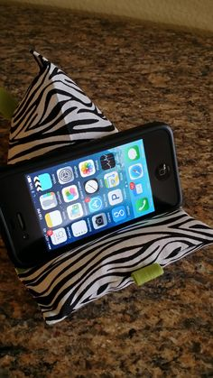 """Zebra GadgetBagz! Great pillow for your smart phone or mini tablet! Shop for it on Etsy """"Aunt Kimmy's Creations"""""""
