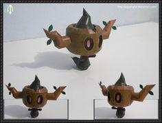 Pokemon - Phantump Free Papercraft Download - http://www.papercraftsquare.com/pokemon-phantump-free-papercraft-download.html