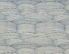 The stylized waves on this wallcovering evoke the Yangzi, the longest river in China. The pattern is printed on a raffia straw laminated on a metallic ground reminiscent of sparkling water. Pierre Frey, Waves Wallpaper, Old Wallpaper, Wall Treatments, Cool Lighting, Painting Techniques, Sisal, Chinoiserie, Groomsmen