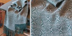 I don't think I can think of a better project for a cold December weekend that weaving up a nice, cozy scarf, and I don't know of a more wintery scarf than the gorgeous American Snowflake Scarf by Jan Josifek.