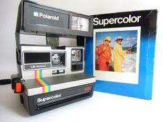 coole vintage Sofortbildkamera von Polaroid OVP  für 600er Farbfilm  Bildformat 8 x 8 cm  Objektiv 1:14,6/103 mm  (mit eingebauter Nahlinse). Elektronischer Verschluss Lichtmischer -...