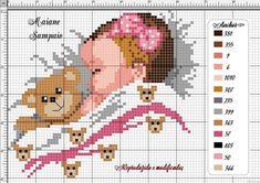 Cross Stitch Heart, Simple Cross Stitch, Cross Stitch Flowers, Learn Embroidery, Cross Stitch Embroidery, Cross Stitch Patterns, Baby Chart, Baby Sheets, Baby Kind