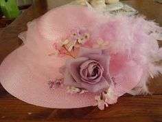 pink beautiful hat - perfect for the Kentucky Derby Tea Hats, Tea Party Hats, Red Hat Society, Hat Crafts, Fancy Hats, Pink Hat, Love Hat, Dress Hats, Everything Pink