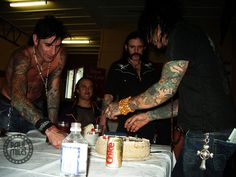Lemmy  / Nikki Sixx birthday  december 2005