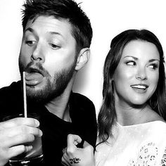 Jensen Ackles & his wifey Daneel Harris Ackles who was also Rachel in One Tree Hill. Love them together!
