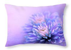 Purple Dream Throw Pillow by Larysa Koryakina #LarysaKoryakinaFineArtPhotography #Pillow #HomeDecor #FlowerArt #Print #interiordesing #artforsale