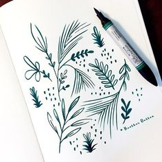 """Beautiful winter sketch by Heather Dutton - """"Quick sketchbook escape while I sip my morning coffee & get ready for the day."""""""