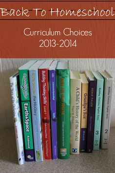 Curriculum choices: 4th grade and 2nd grade. Charlotte Mason style. Excellent Ideas.