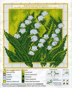 Gallery.ru / Фото #1 - разные - irisha-ira Cactus Cross Stitch, Cross Stitch Flowers, Cross Stitch Kits, Cross Stitch Patterns, 123 Stitch, Diy Fleur, Knitting Charts, Lily Of The Valley, Irish Crochet