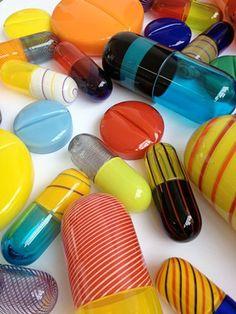 "Beverly Fishman's ""Artificial Paradise"" Opens at Wasserman Projects - Cranbrook Academy of Art Ceramics Projects, Online Images, Pills, Art Museum, Sculpture Art, Paradise, High School, Blown Glass, March"