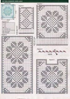 crochet crochetlook at the roll hangertoo cute - PIPicStats Crochet Boarders, Crochet Stitches Patterns, Crochet Squares, Cross Stitch Patterns, Crochet Doily Diagram, Crochet Motif, Crochet Doilies, Doily Rug, Crochet Art