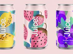 Summer Vibes package sketch illustration drinks can summer pattern cans logo packaging typography color branding purple blackberry packaging Juice Summer VibesJuice Su. Juice Packaging, Beverage Packaging, Brand Packaging, Juice Branding, Water Branding, Design Packaging, Drinks Logo, Design Graphique, Summer Patterns